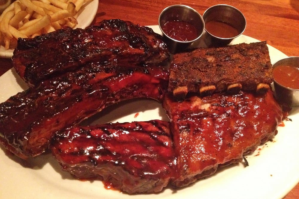 Photo of Wood Ranch BBQ & Grill - Cerritos, CA, United States. 4 - 4 Item Wood Ranch Bbq Combo - Tri Tip, Beef Ribs, St. Louis And