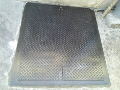 Photo of Steel Masters NYC - Brooklyn NY United States. Sidewalk steel cellar & Sidewalk steel cellar door. Commercial diamond plate. - Yelp