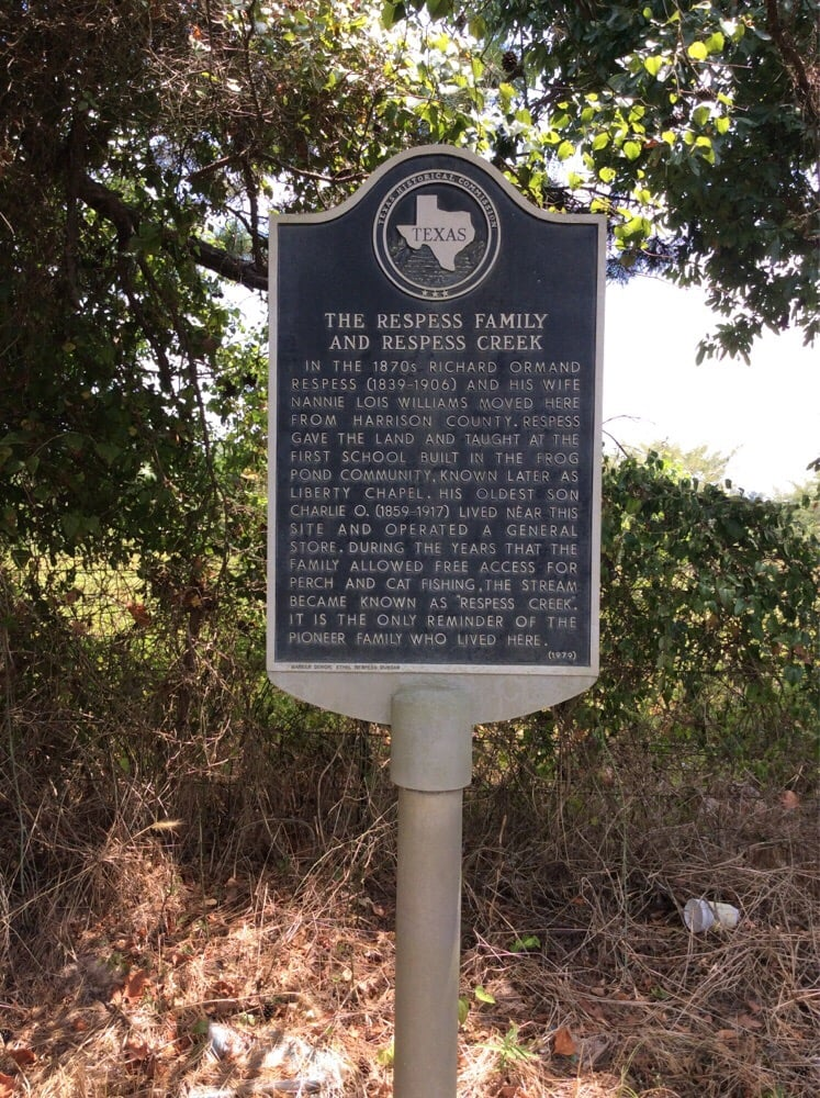 The Respess Family And Respess Creek Marker: 1934 US 79, Carthage, TX