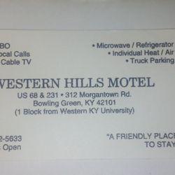 Western Hills Motel - Hotels - 312 Morgantown Rd, Bowling Green, KY