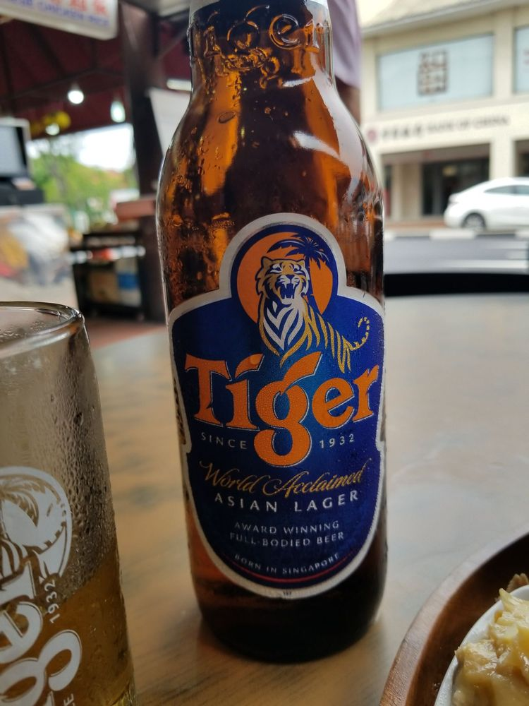 And the server asks me Heineken or tiger? Of course, Tiger