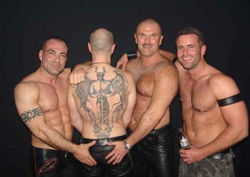 Gay guy leather