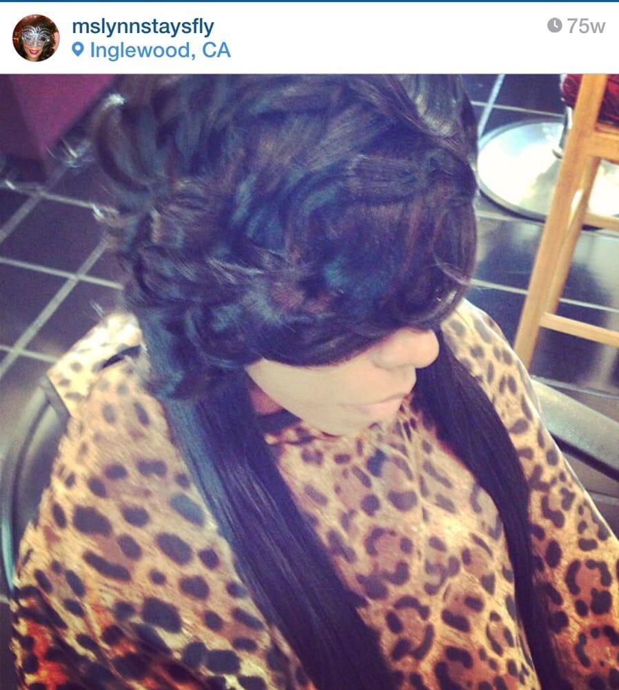 Ms. Lynn @ Reflections Beauty & Barber   220 E Nutwood St, Inglewood, CA, 90301   +1 (770) 896-3494