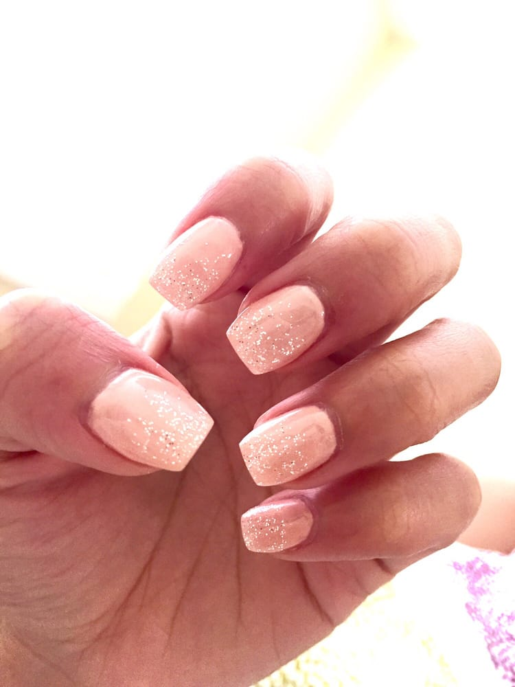 Simple short ballerina gel nails by Ivy - Yelp