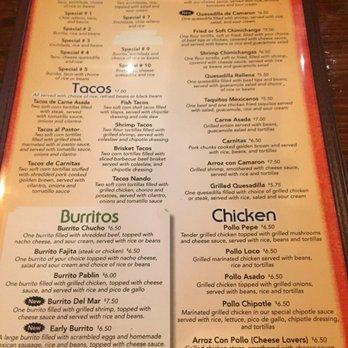 Don Pepe Mexican Restaurant Midlothian Menu