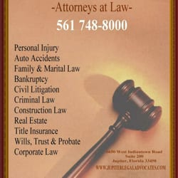 Jupiter Legal Advocates - Personal Injury Law - 8895 N