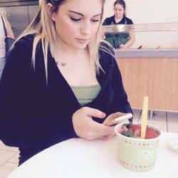 Girl fucks yogurt