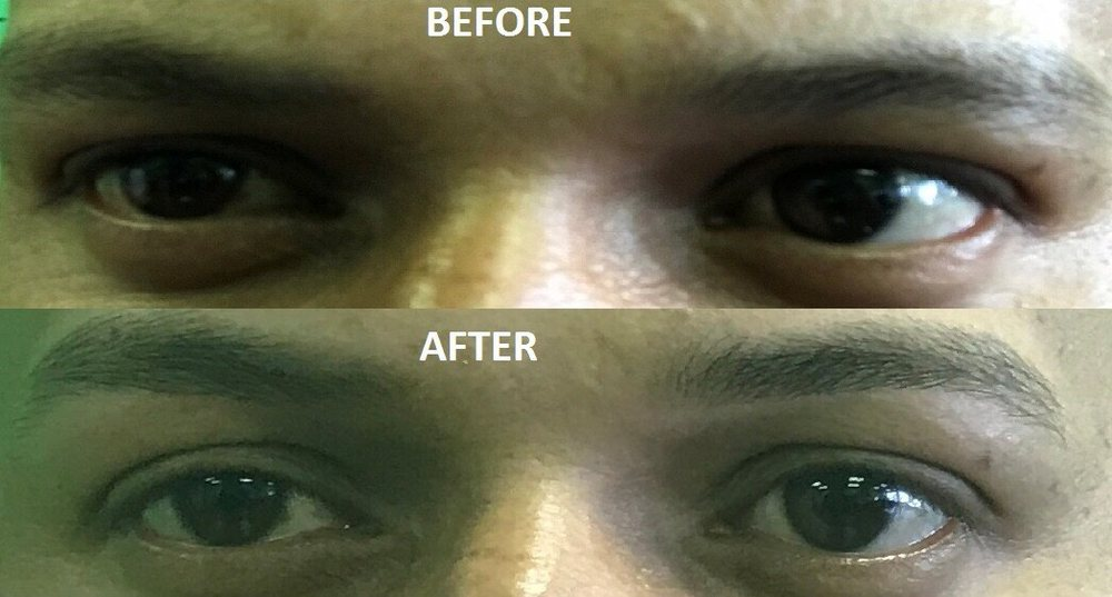 I Took Photo Before And After Doing Threading Yelp