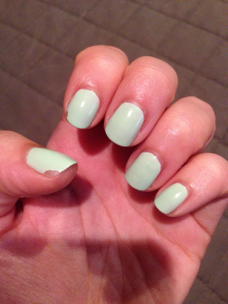 Beautiful application of polish, good cuticle maintenance and lovely ...