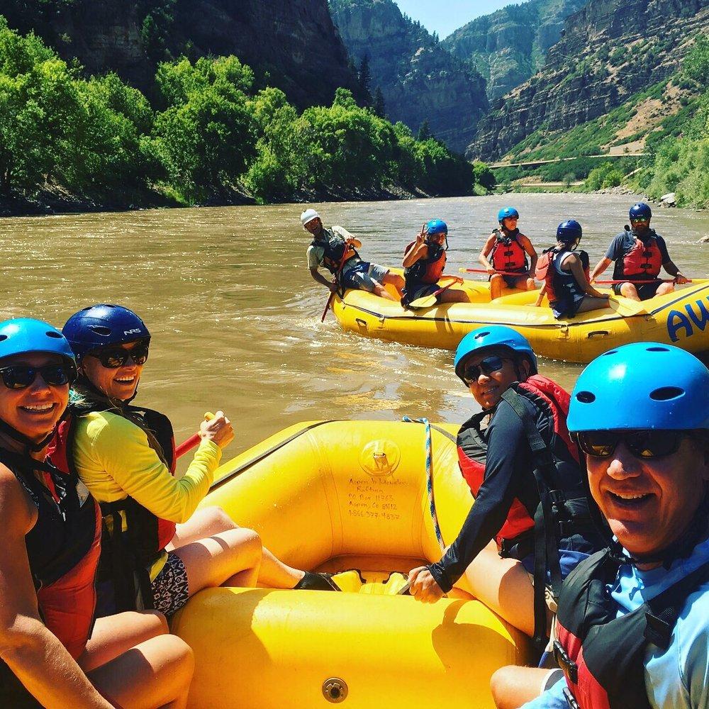 Rafting sulle rapide di Aspen