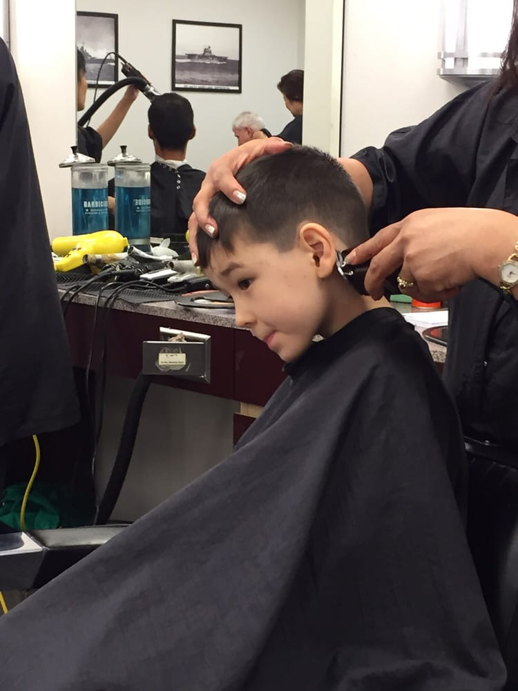 First Time Getting A Big Boy Haircut At The Barber Shop Yelp