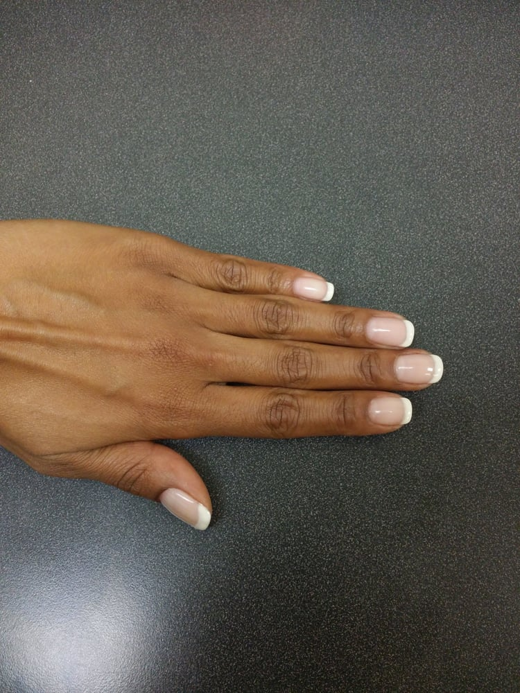 Gel American French Manicure on my own natural nails done by Nick ...