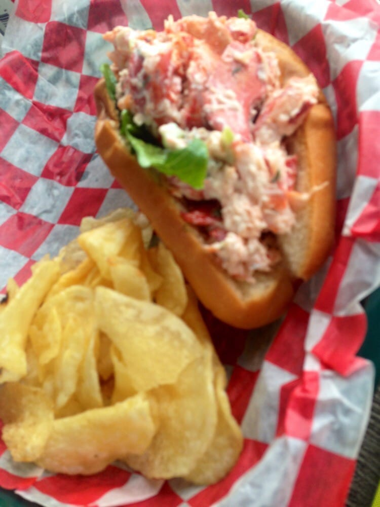 Lobster salad roll. Also had the calamari & it was yummy! - Yelp