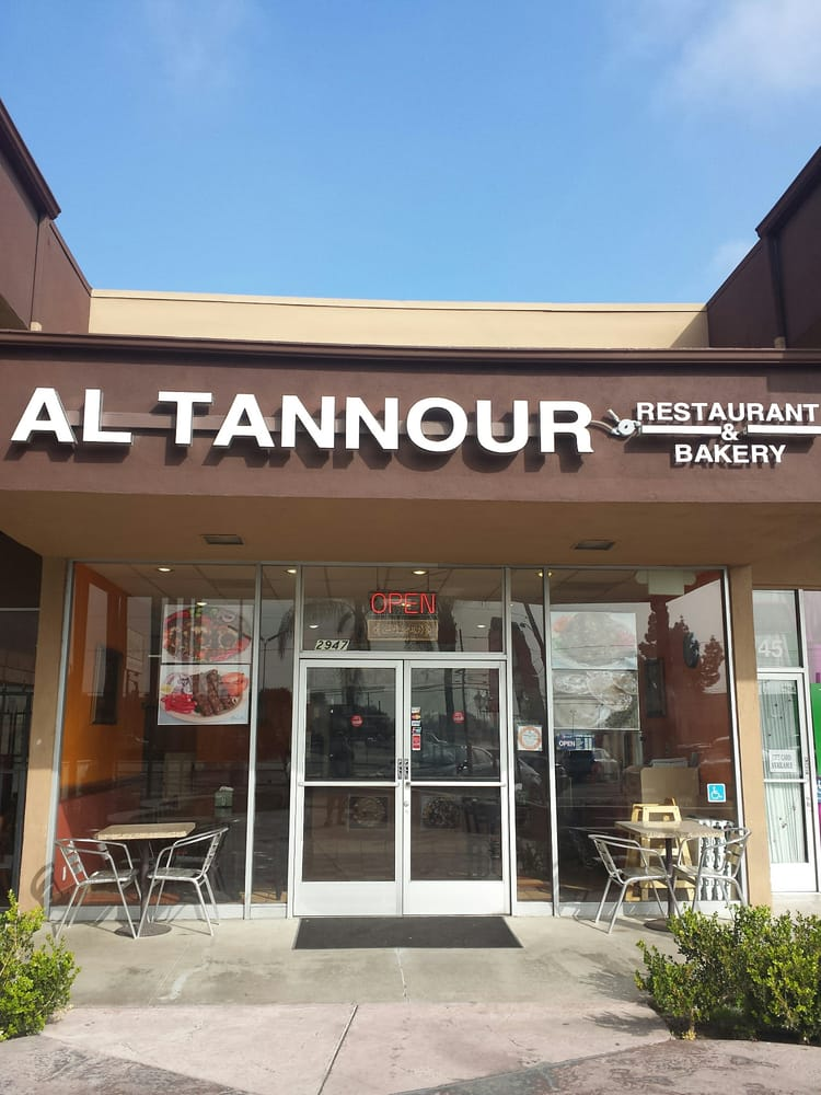 Front of restaurant yelp for Al tannour mediterranean cuisine menu