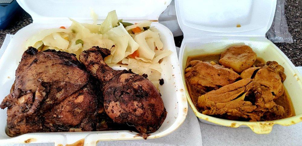 Food from Queen's Caribbean Cuisine