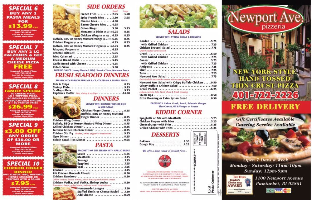 Newport Avenue Pizzeria