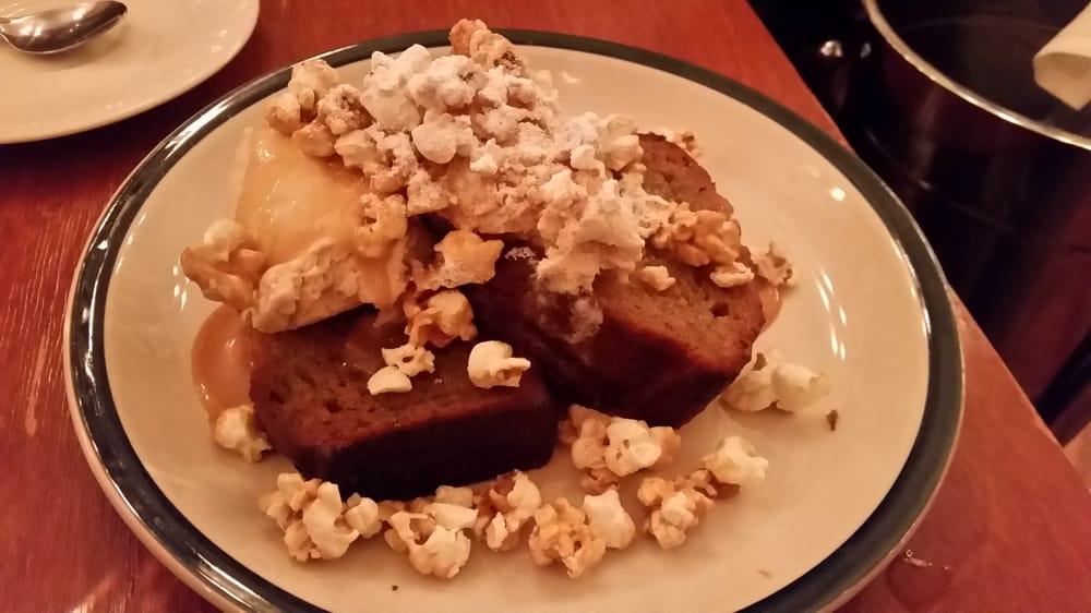 Bistro Dre: Toasted Banana Bread W/Carmel Corn And Oat Ice Cream
