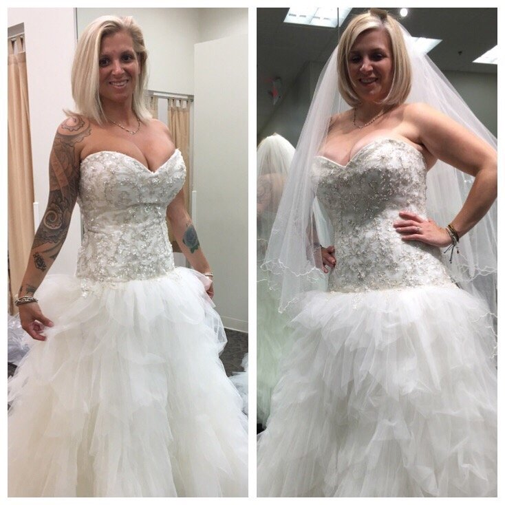 Wedding Weight Loss: After And Before In My Wedding Dress! Thanks Sea Mist!