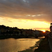 Rooftop De Nuit Photo Of Hotel Plaza Lucchesi Florence Firenze Italy Sunset On The Arno