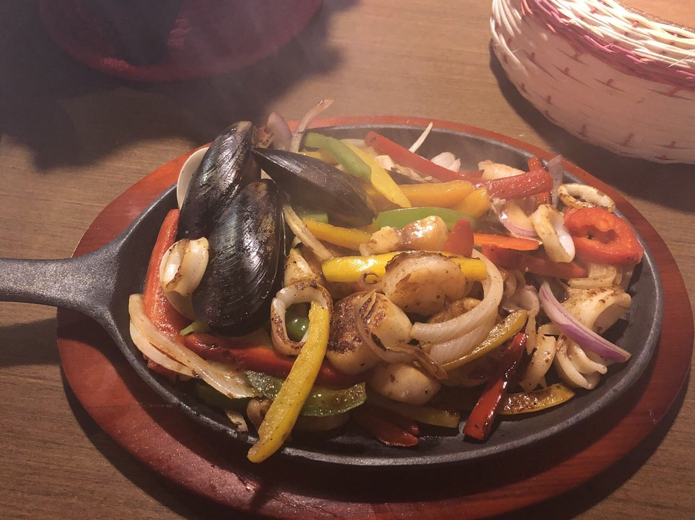 Photo Of Genesis Restaurant Easton Md United States Seafood Fajitas With Shrimp