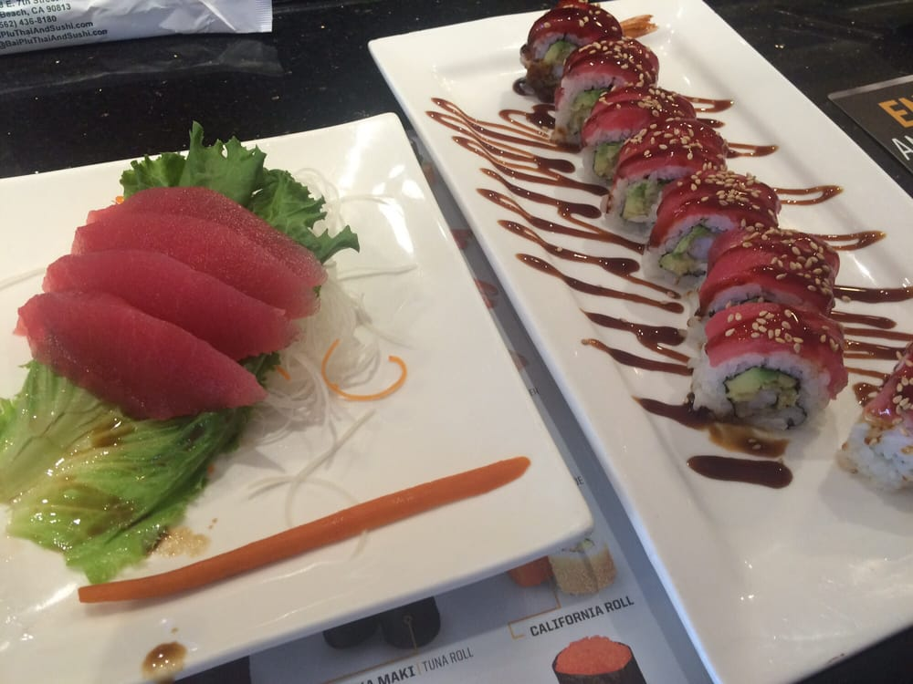 Tuna sashimi playboy roll yelp for Aki japanese cuisine