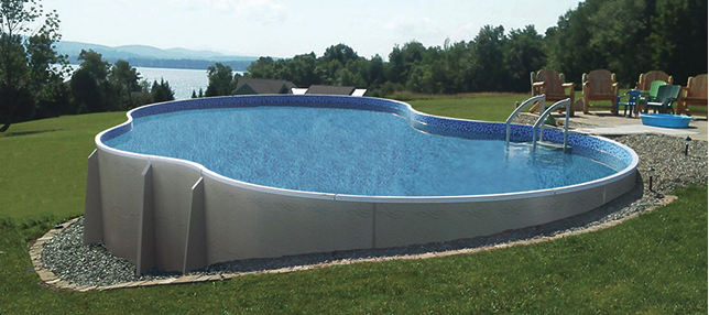 Radiant free form above ground pool luxury pool spa - Luxury above ground pools ...