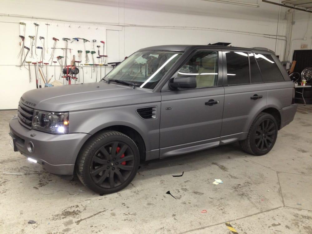Dark Grey Vinyl Wrap Range Rover Sport Yelp