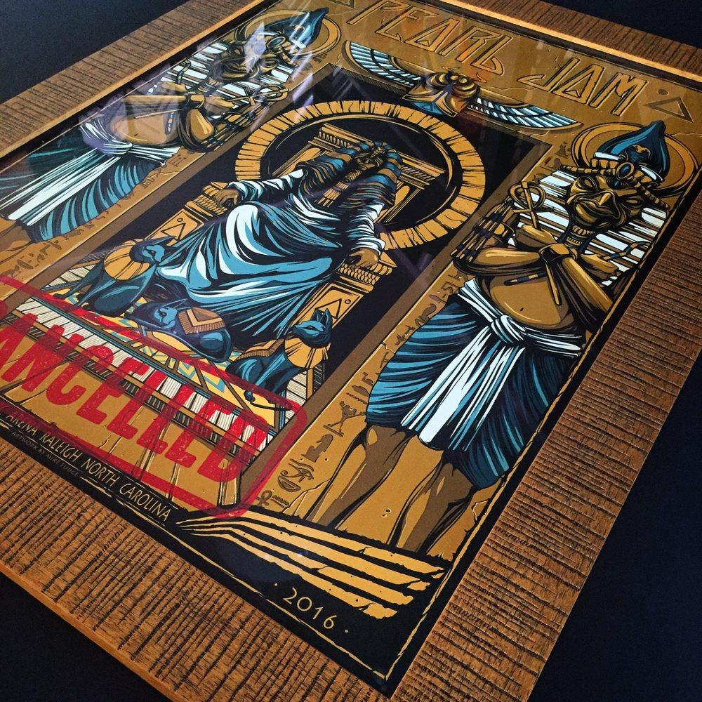 Custom Frame For Pearl Jam Poster Yelp