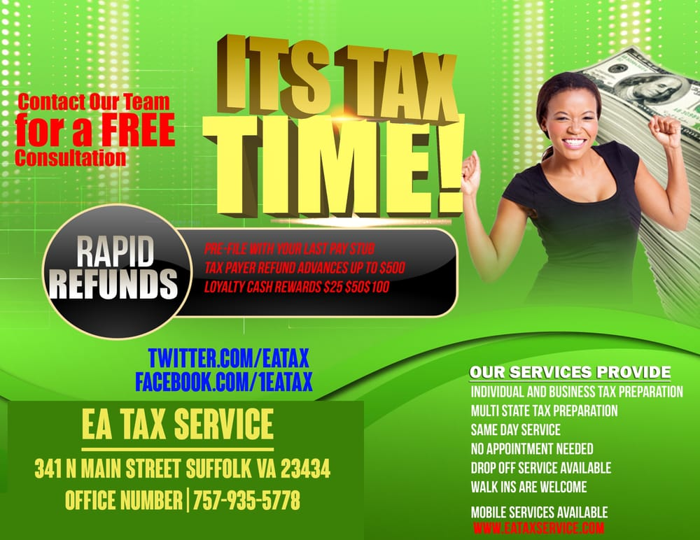 EA Tax Service - Tax Services - 341 N Main St, Suffolk, VA ...