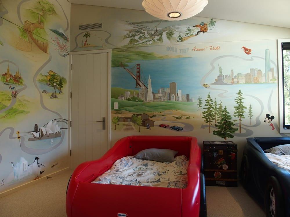Magpie Decorative Painting: Palo Alto, CA