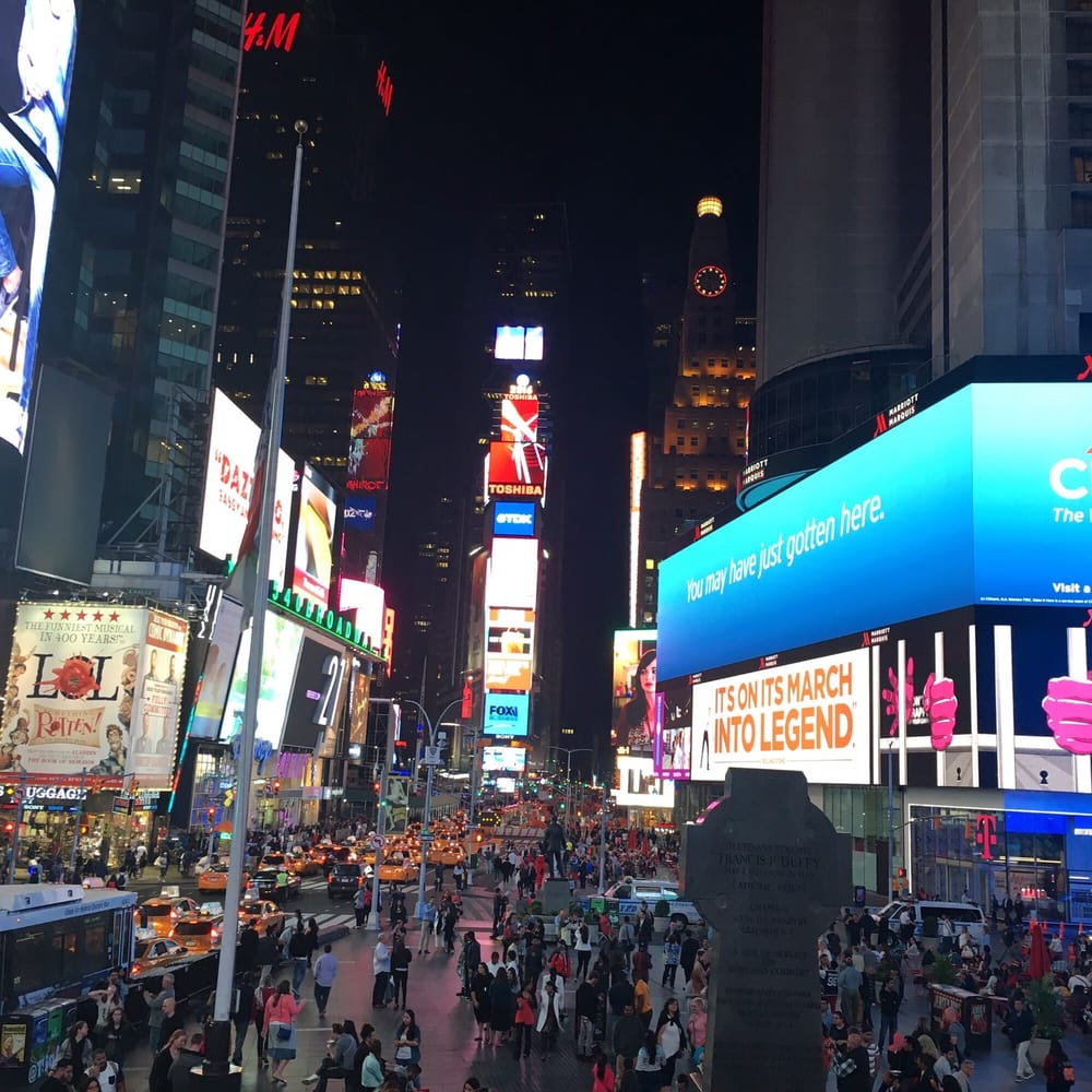 Right Outside Is Time Square Facing The Ball Drop For New