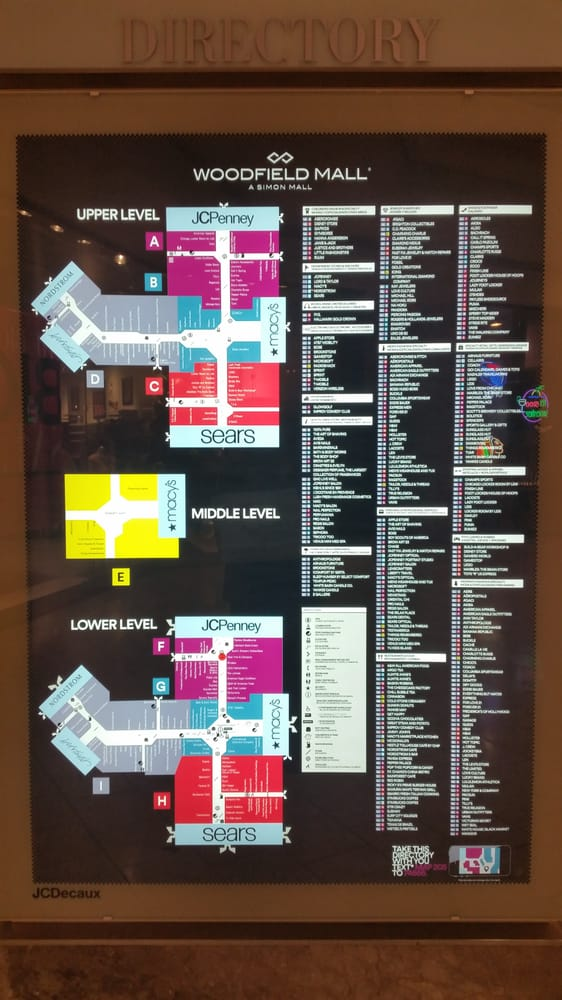 Photo Of Woodfield Mall Schaumburg Il United States Mall Map