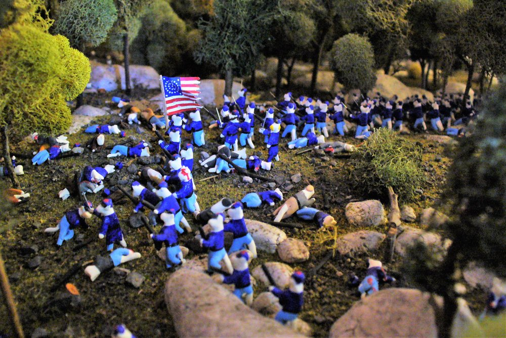 Social Spots from Civil War Tails at the Homestead Diorama Museum