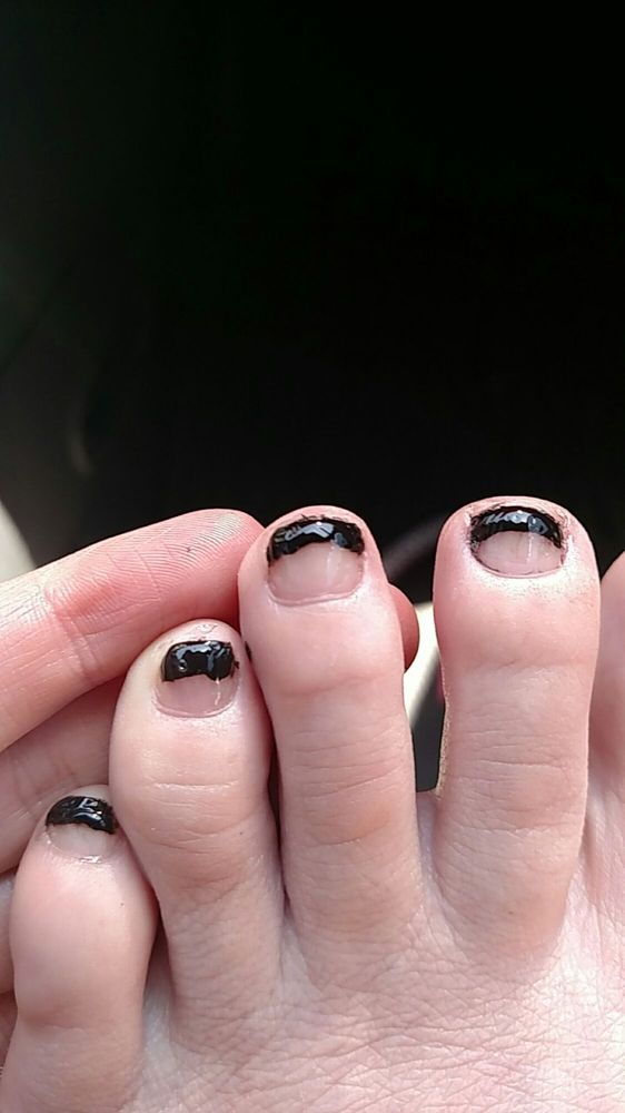 Awful... I will be removing polish as soon as I get home. - Yelp