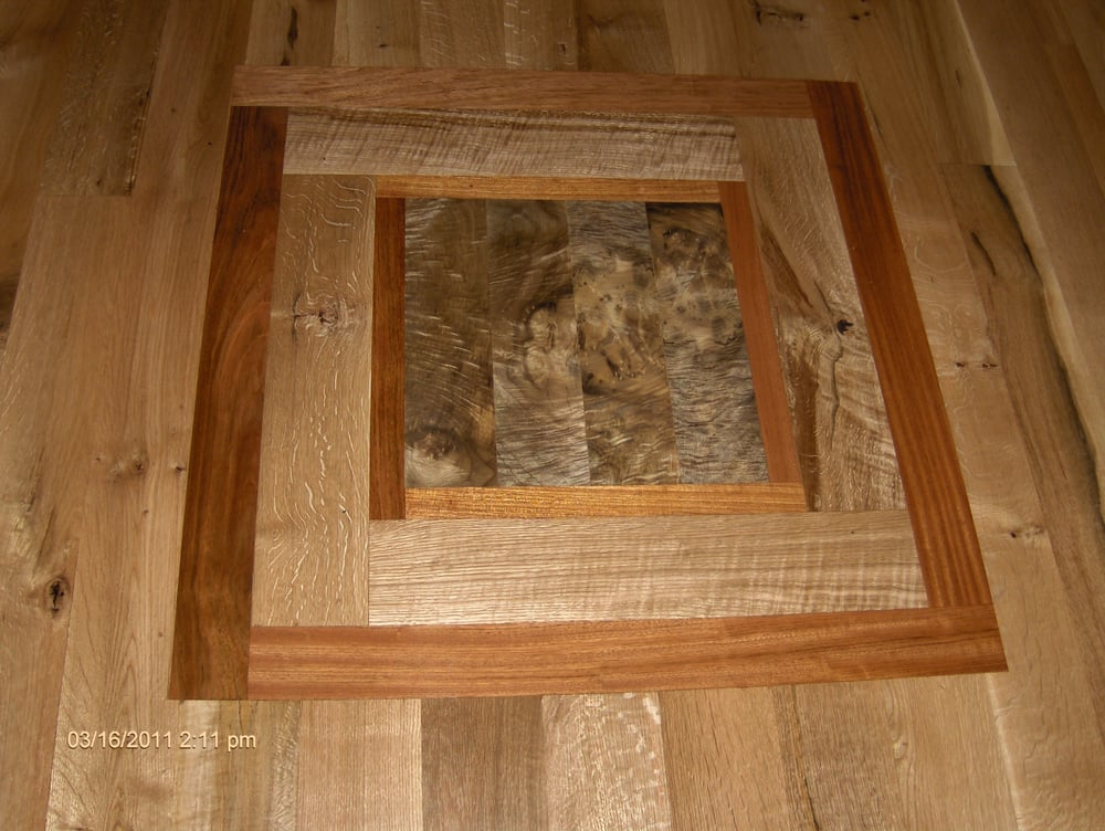 Inlay by custom hardwood floors inc steilacoom wa yelp for Custom hardwood flooring