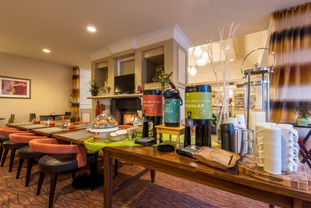 Complimentary Coffee Tea And Cocoa Available 24 7 In The Garden Grill And Bar Yelp