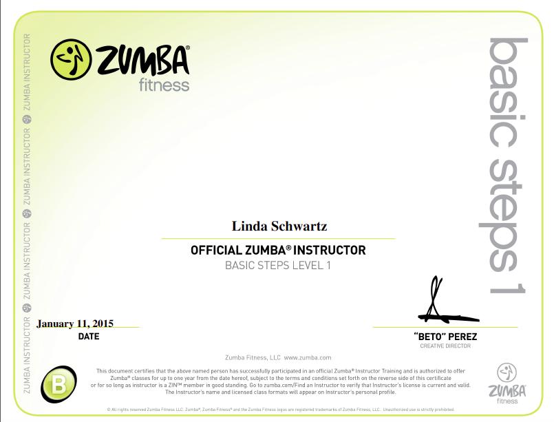 Linda Schwartz Zumba License Yelp