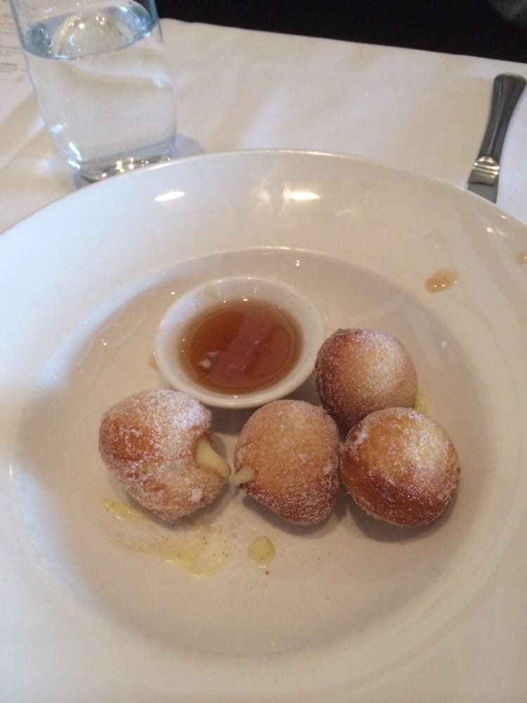 ... New York, NY, United States. Doughnut holes with smoked maple syrup