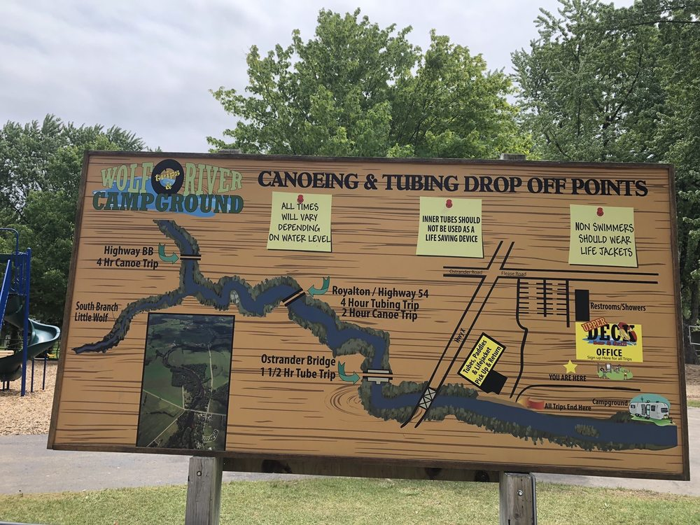 Wolf River Trips & Campground: E8041 County Road X, New London, WI