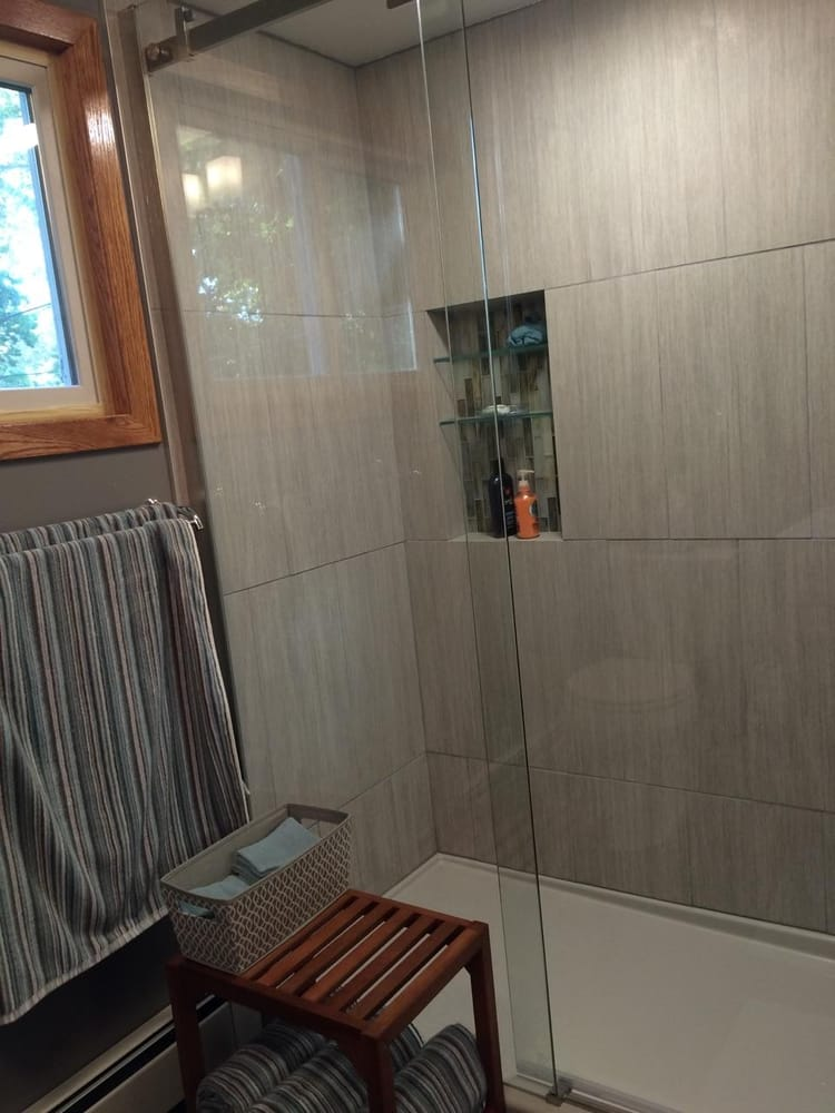 Photo Of Integrity Builders   Wayzata, MN, United States. Bathroom Remodel  With Glass