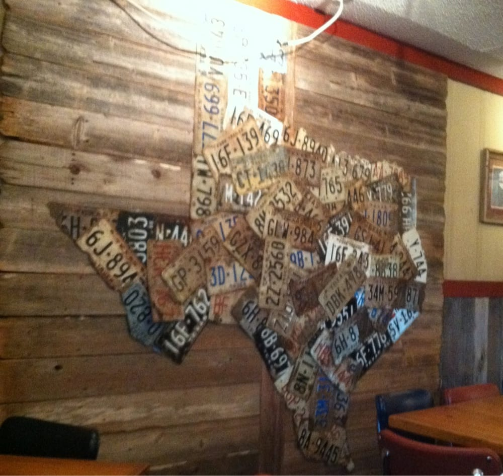 Image Of Texas Made Out Of Texas License Plates Yelp - Us map made out of license plates