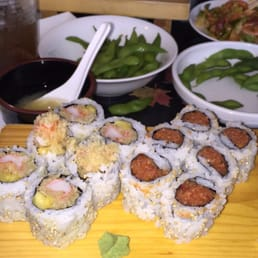 New City Sushi - New City, NY, United States. Spicy tuna and Kani tempura/mango rolls - delicious