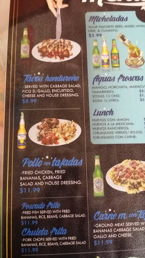 Part of the menu it 39 s a tall menu and two sided i got for Menu cinese tipico
