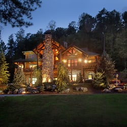 Photo Of Modern Rustic Homes   Ellijay, GA, United States. Ponderosa Lodge  Night