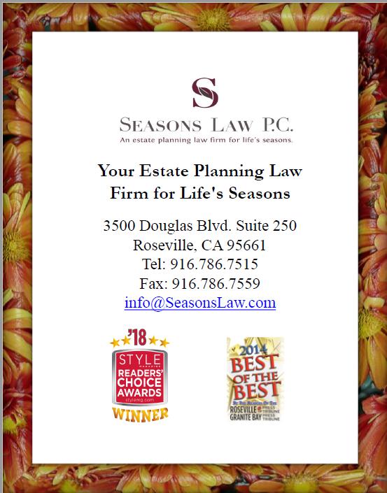 Seasons Law, P.C., Attorneys Lynn Dean & Tracy Shows | 3500 Douglas Blvd., Suite 250, Roseville, CA, 95661 | +1 (916) 786-7515