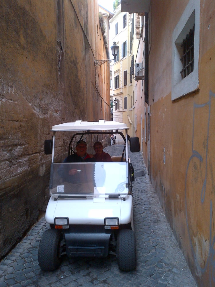Tour Of Rome By Golf Cart No Street Is Too Narrow For Us