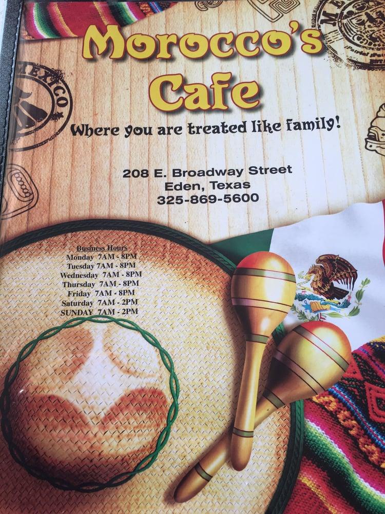 Morocco's Cafe: 208 E Broadway St, Eden, TX