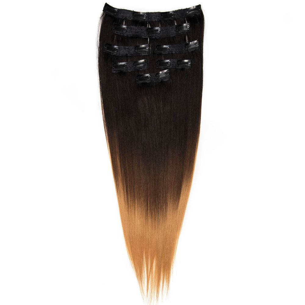 7pcs Clip Ins In Black Blonde Balayage Color 20 Yelp