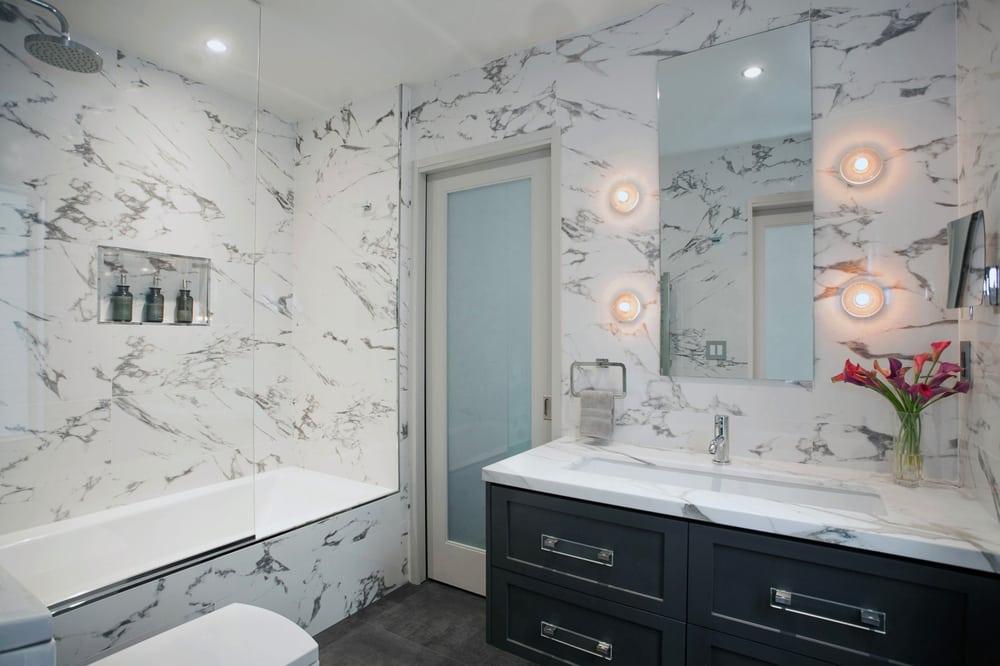 Laguna beach complete bathroom remodel yelp for Laguna beach interior designers