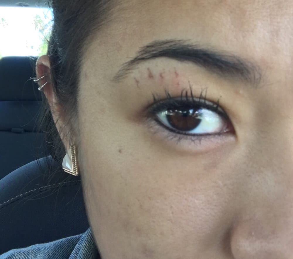 Cuts After Getting My Eyebrows Done Yelp